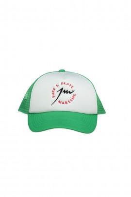 Green White Trucker Cap