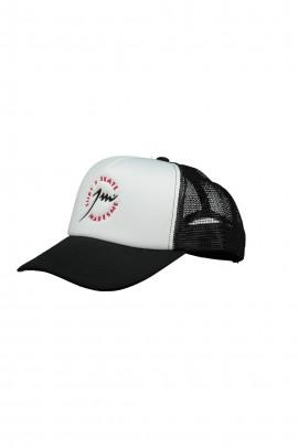 Black White Trucker Cap